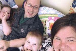 Photo of Revd Matt Malins and family