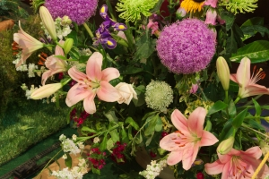 Photo of one of the displays at the Meerbrook Flower Festival 2017