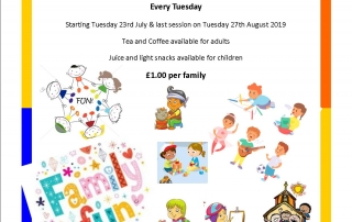 Summer Saints – for families with children aged 0 – 9 years