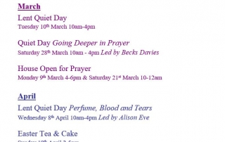 St Chad's House Events March & April